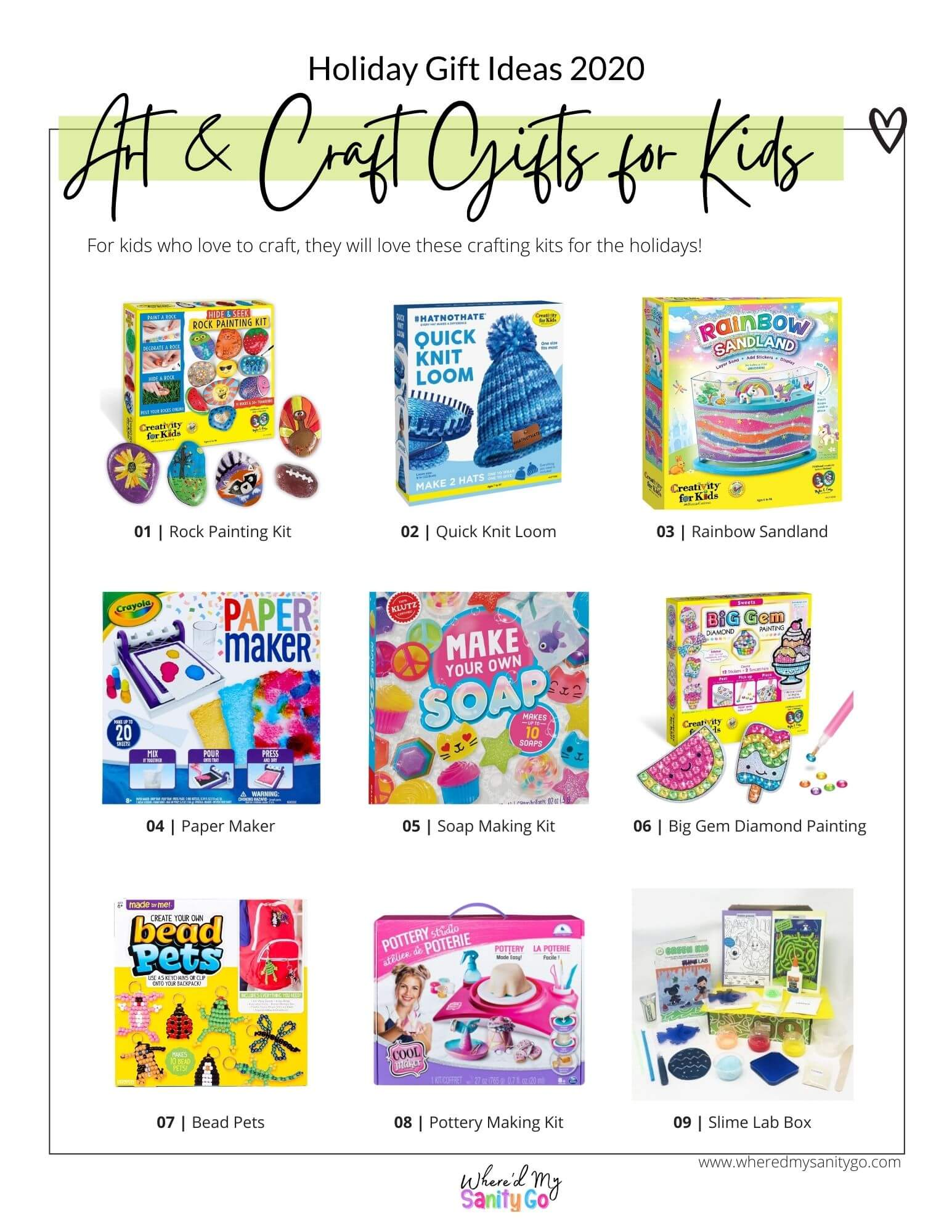Best Craft Kits for Kids Holiday Gift Guide 2020