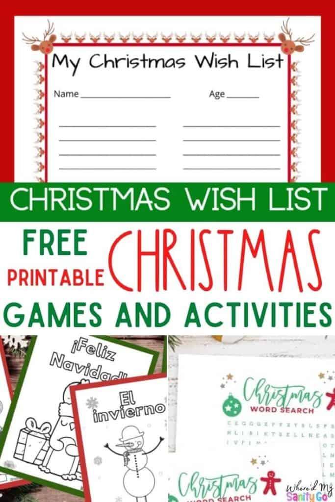 Christmas Printable Free Games and Activities for Kids