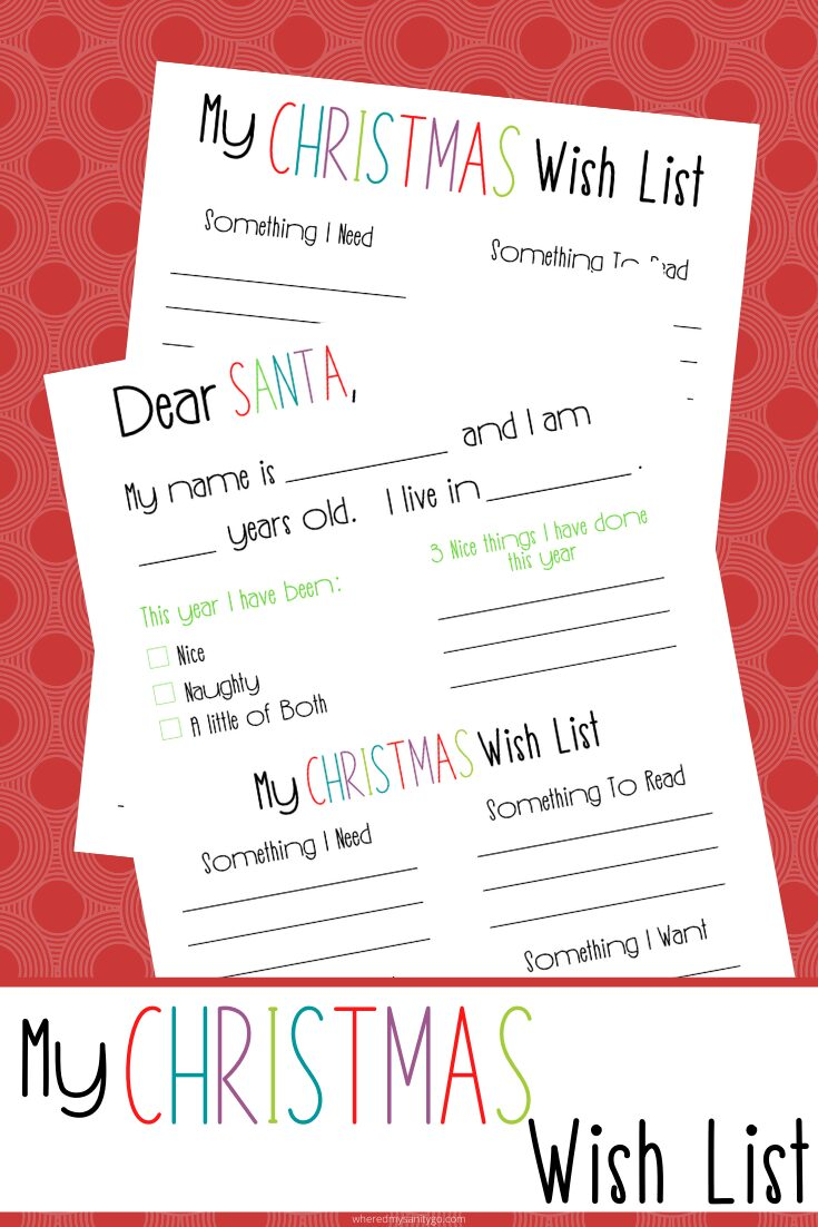 Write A Letter To Santa Free Printable Santa Letter For Kids