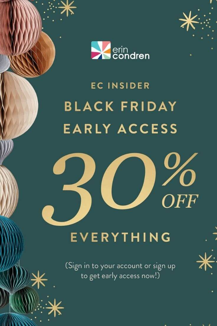Erin Condren Black Friday Sale and Cyber Monday Sale for 2020