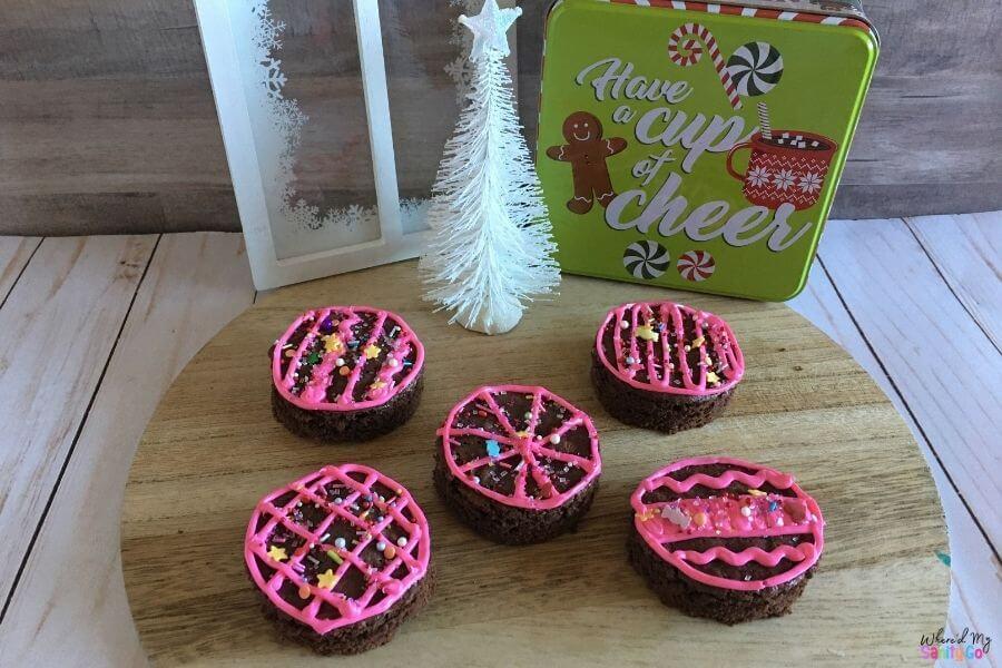 Holiday Brownie Ornament Cookies