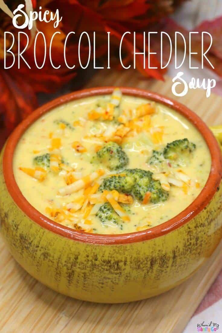 Spicy Broccoli Cheddar Soup Recipe