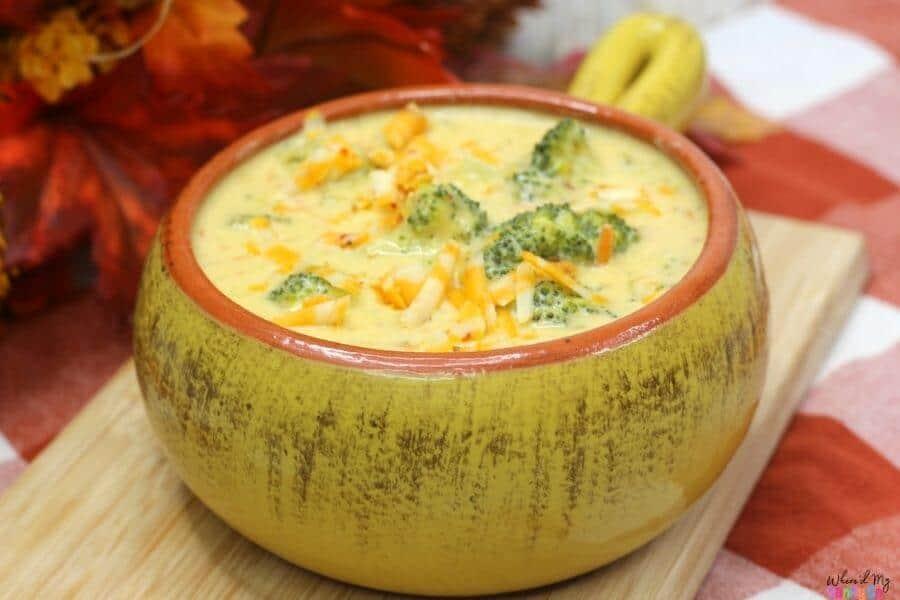 Spicy Broccoli Cheddar Soup Recipe WMSG