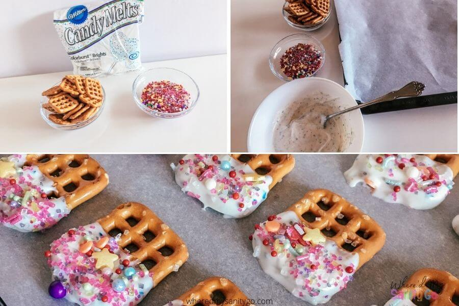 Chocolate Dipped Party Pretzels