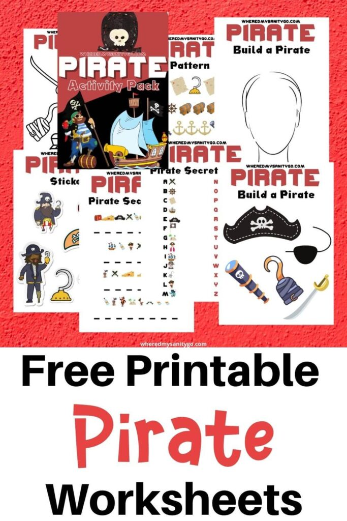 Free Printable Pirate Worksheets and Games for Kids