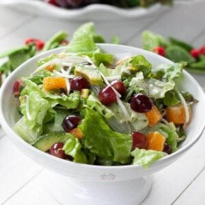 Green Salad with Fruit and DIY Poppyseed Dressing