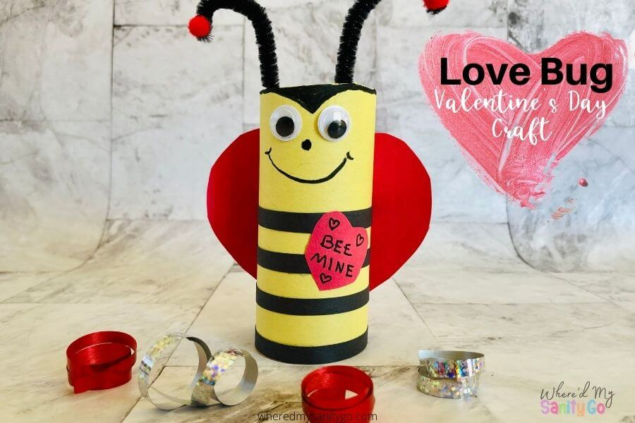 Love Bug Toilet Paper Roll Craft for Kids