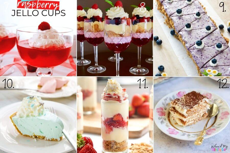 Easy No Bake Desserts