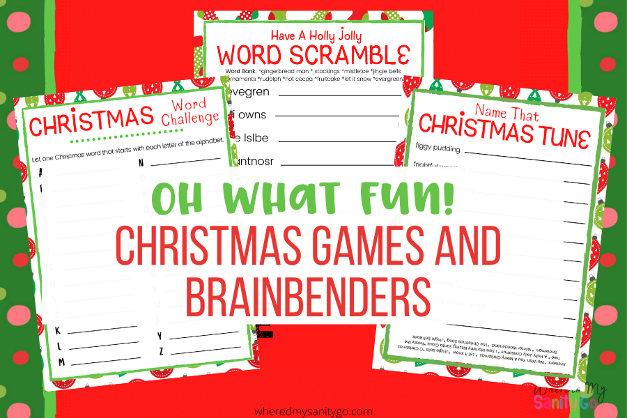 Oh What Fun Printable Christmas Games and Brainbenders