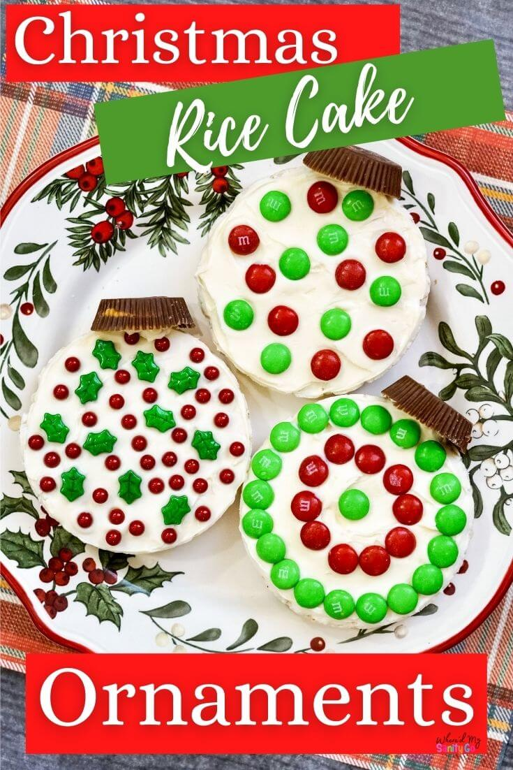 Rice Cake Recipe Christmas Ornament Snack