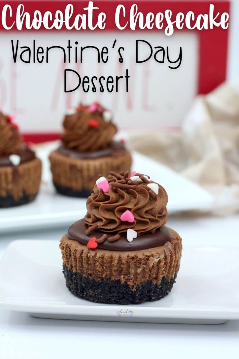 Mini Chocolate Cheesecake Dessert for Valentines Day