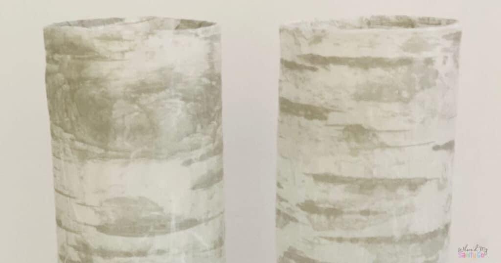 DIY Faux Birch Vases