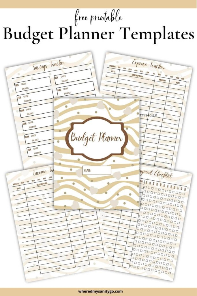 Free Printable Budget Templates with Income Savings Expense Tracker Bill Payments
