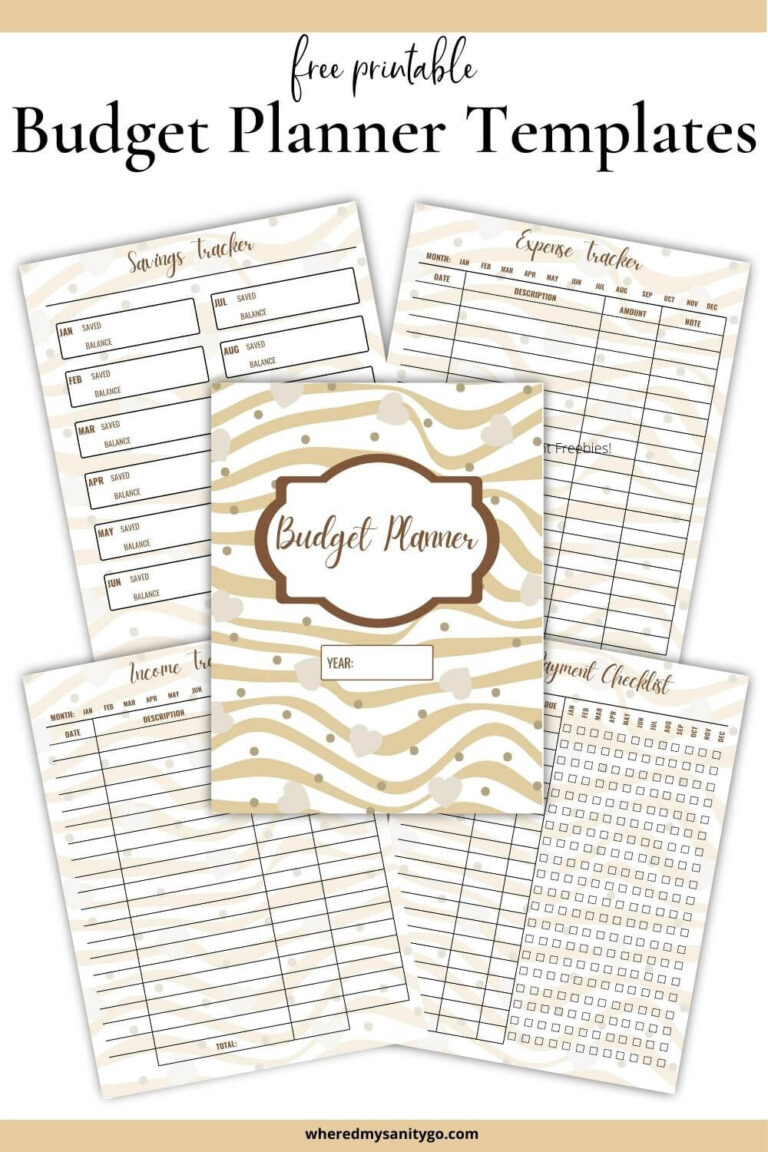 Free Printable Budget Templates Income Savings Expense Tracker Bill Payments