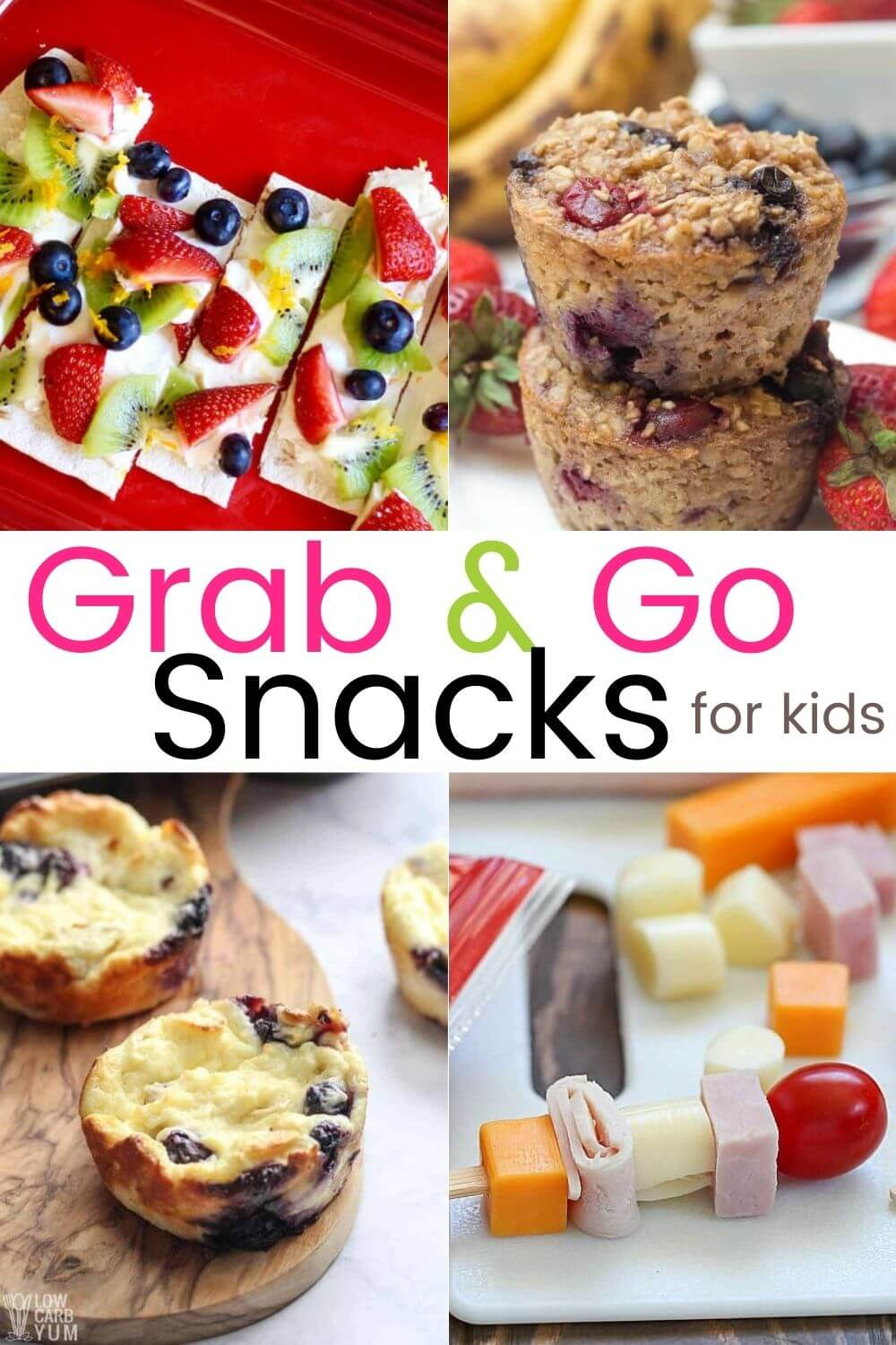 Healthy Fun Snacks for Kids - Kid Friendly Grab and Go Snacks
