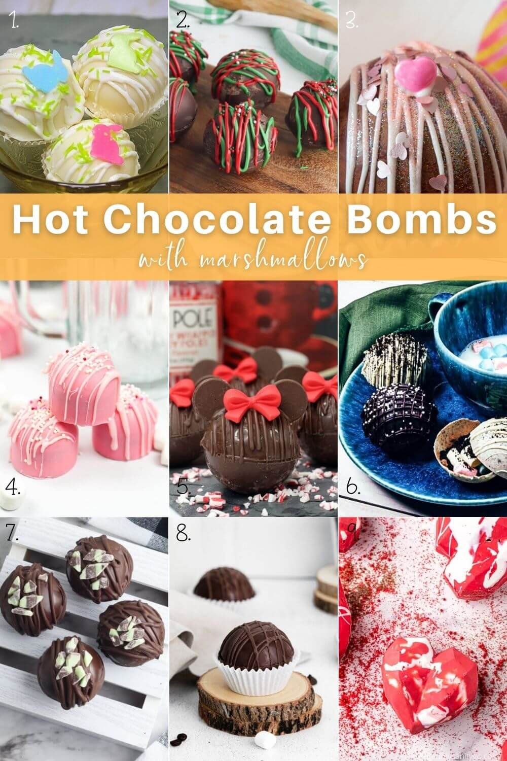 Hot Chocolate Bombs with Marshmallows Roundup