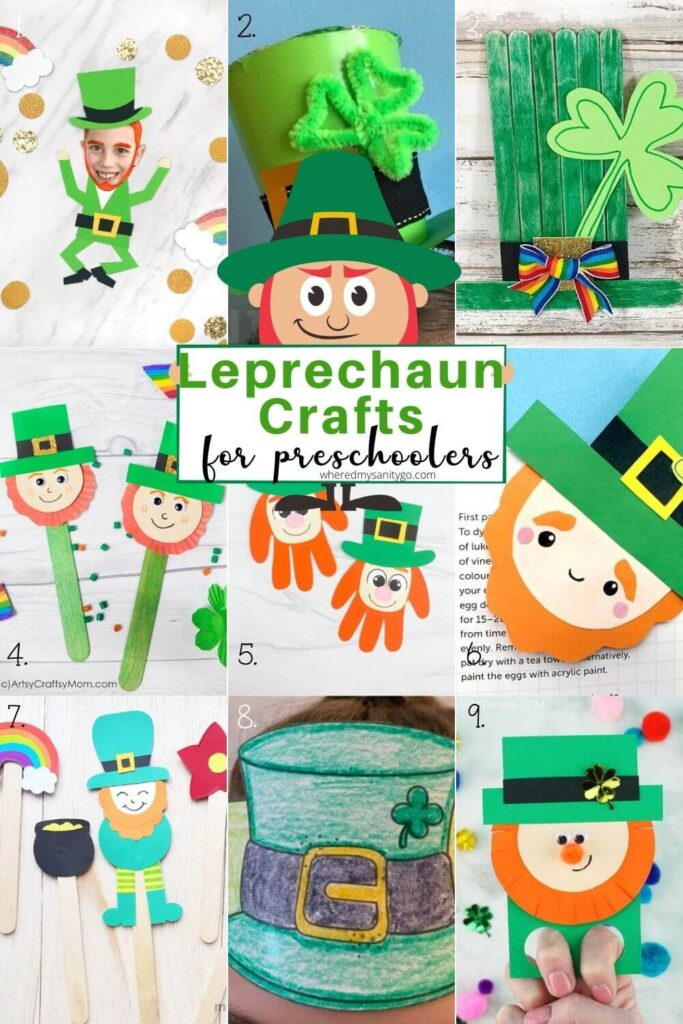 Leprechaun Crafts for Preschoolers for St Patricks Day