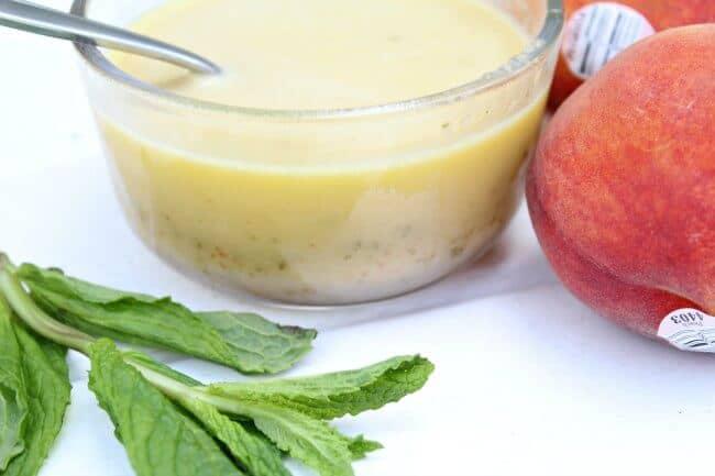 Homemade Fresh Mint Peach Vinaigrette Dressing