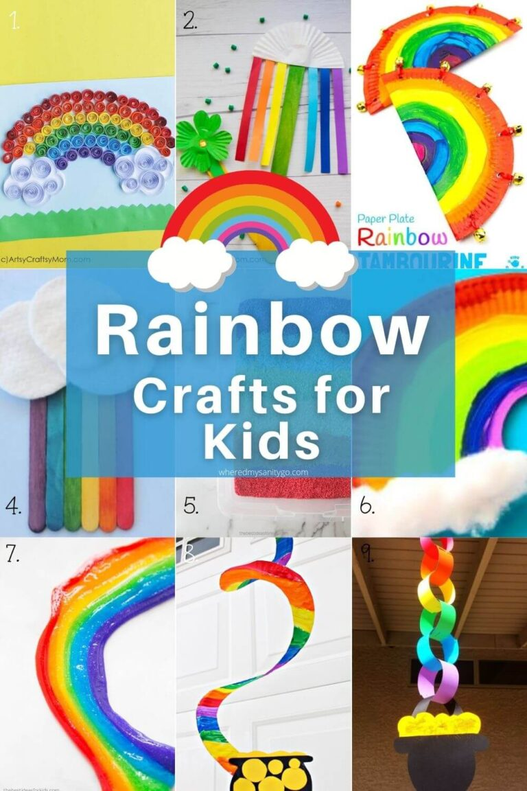 Rainbow Crafts for Kids To Help Learn Colors