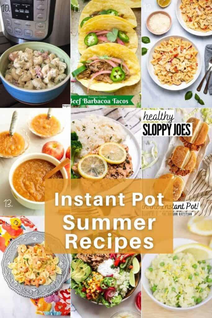 Summer Instant Pot Recipes