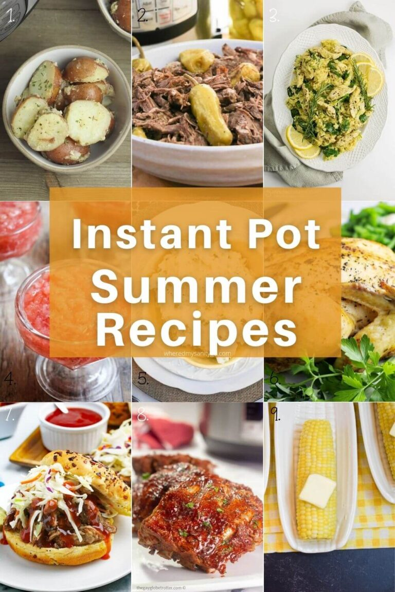 Summer Instant Pot Recipes for Summer BBQs (Dinners and Desserts)