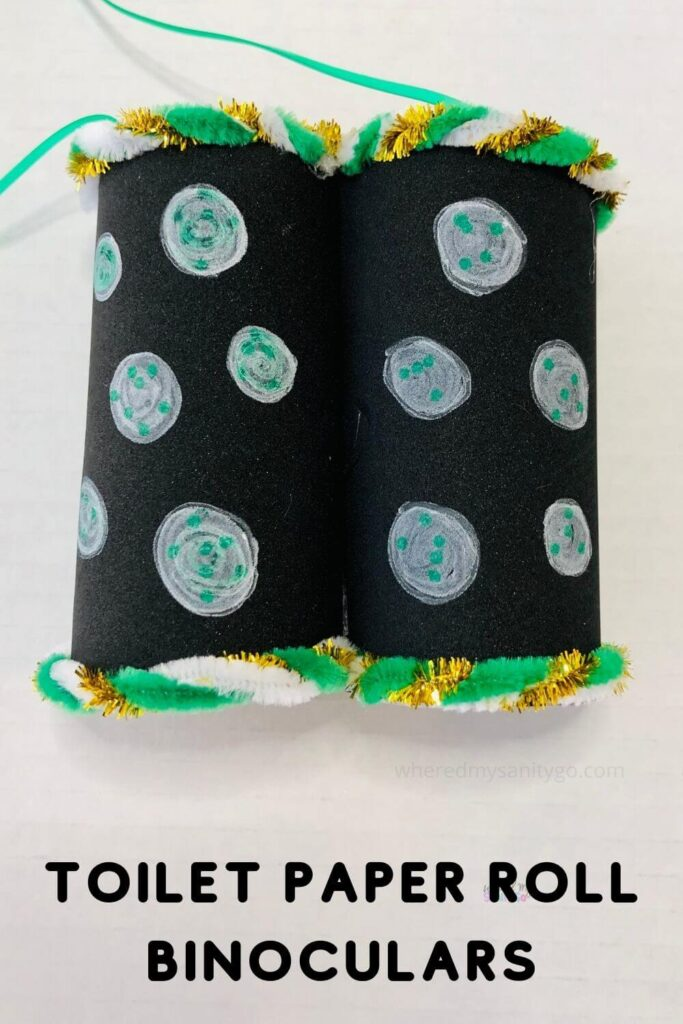 Toilet Paper Roll Binoculars Craft Pin
