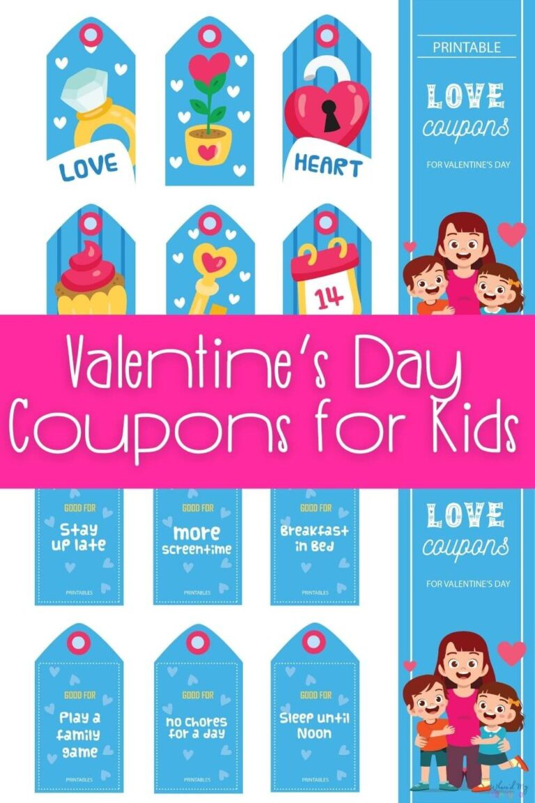 Valentines Coupons for Kids A Fun Candy Alternative for Valentines Day