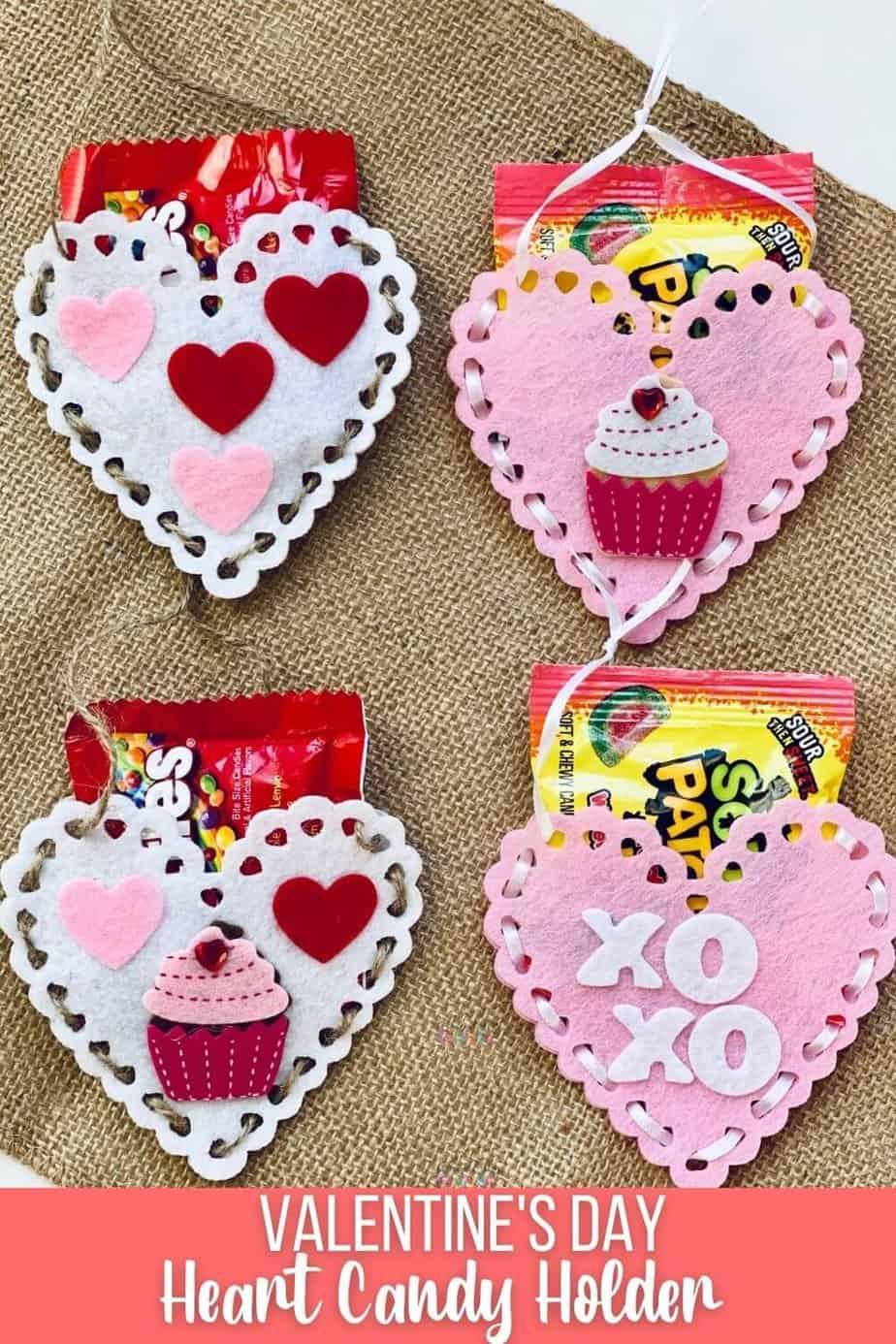 Valentines Day Heart Candy Holder Dollar Store Craft