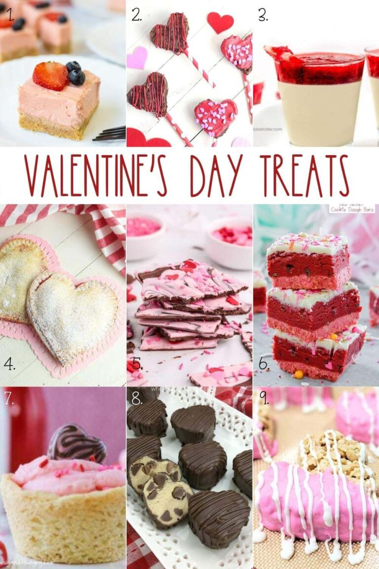 Valentines Day Treats Heart Shaped Desserts