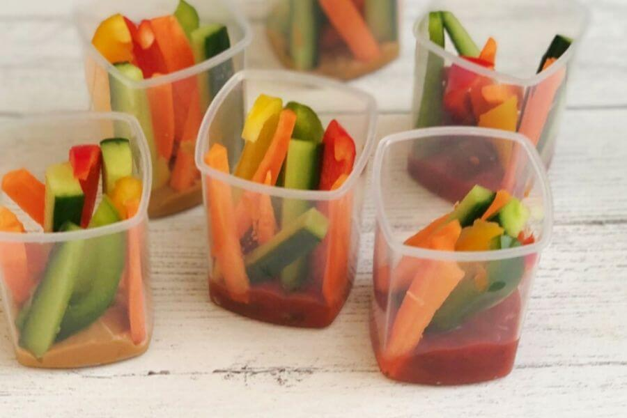 Veggie Sticks and Dip Pots