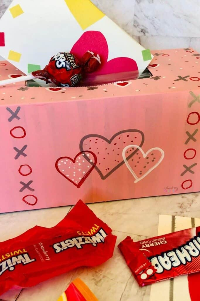 XOXO Valentines Day Box Card Holder Craft for Kids