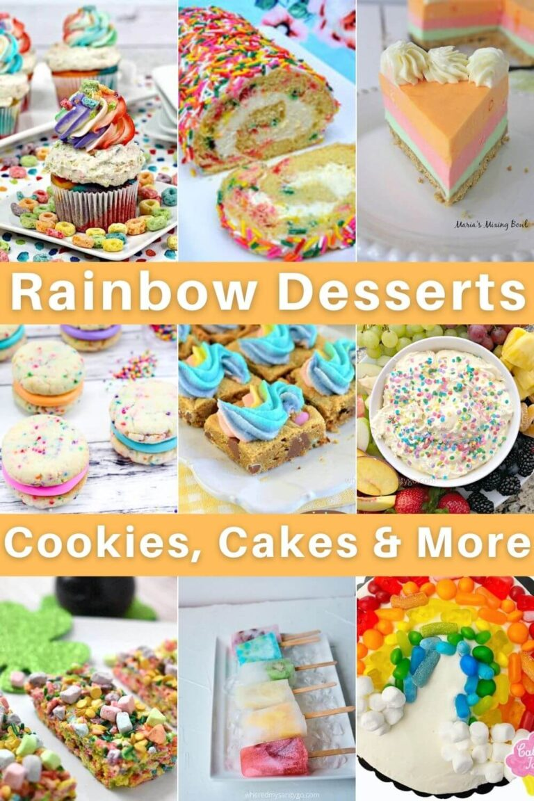 Rainbow Foods and Rainbow Treats Desserts Cookies Candy and More