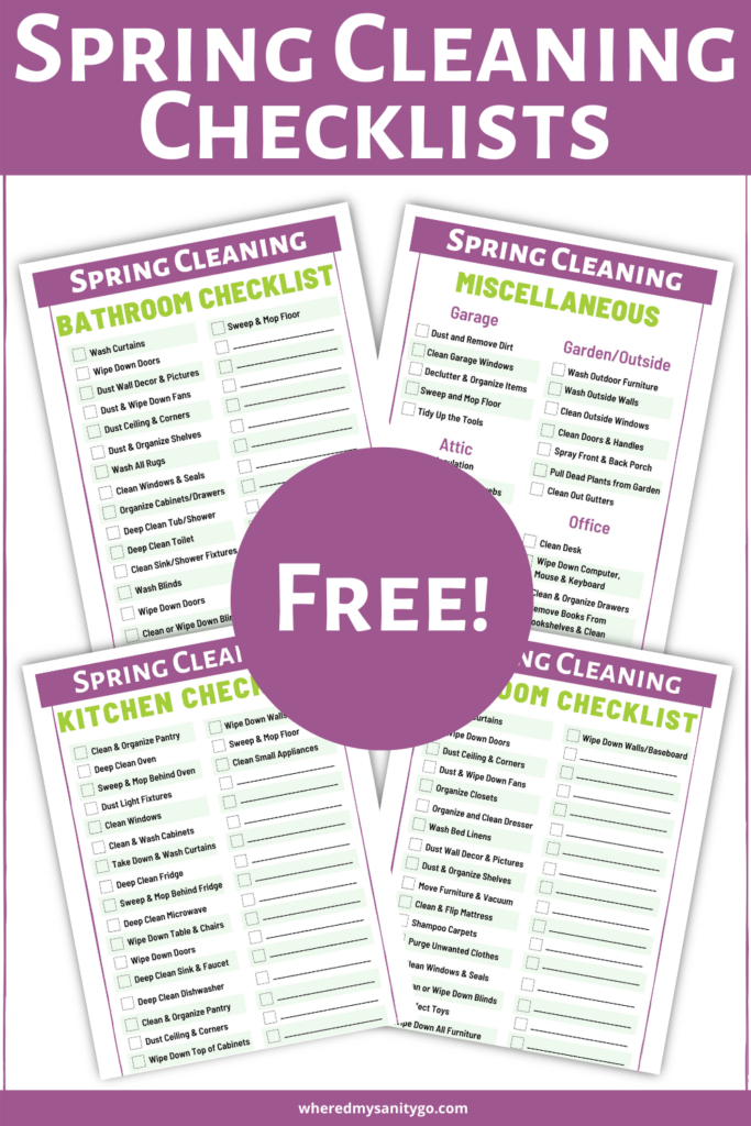Spring Cleaning Checklist and Easy Spring Cleaning Tips