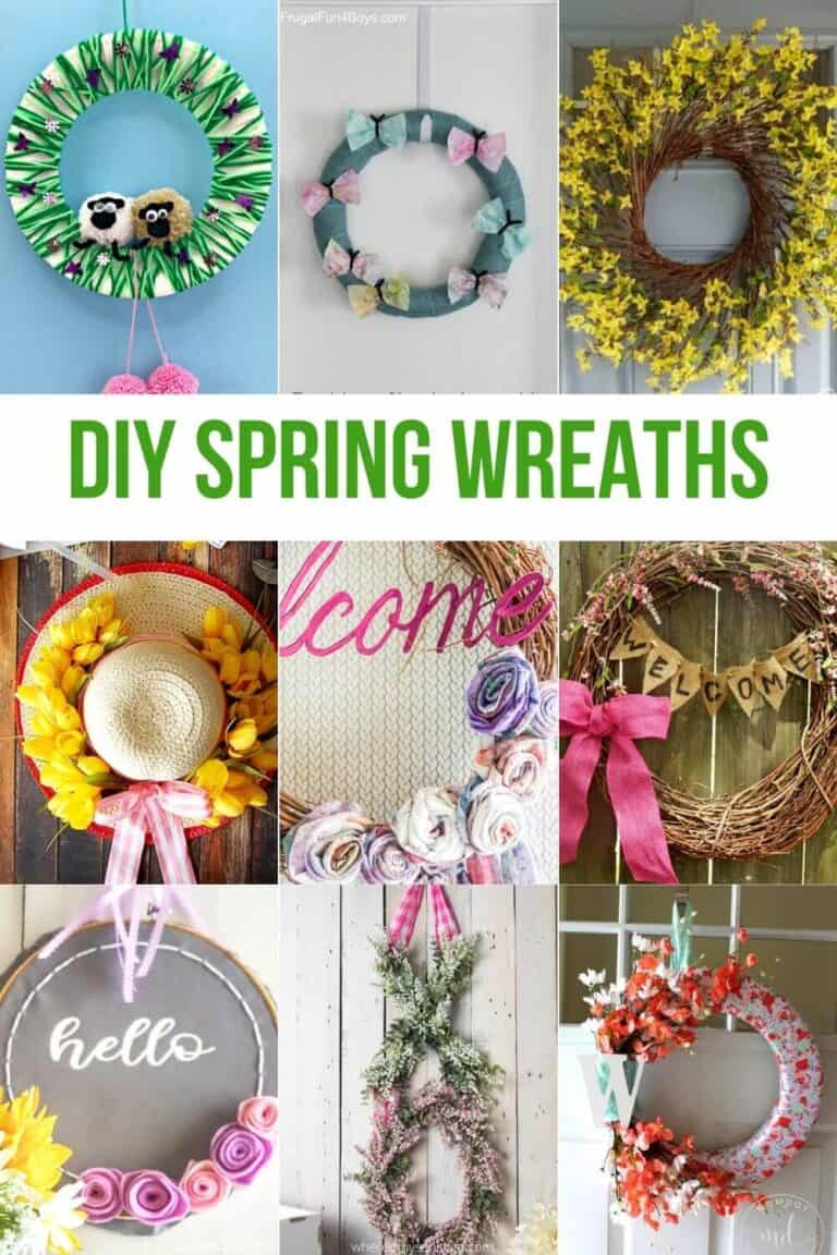 Spring Wreaths for Front Door Decorating DIY Flower Wreaths for Spring