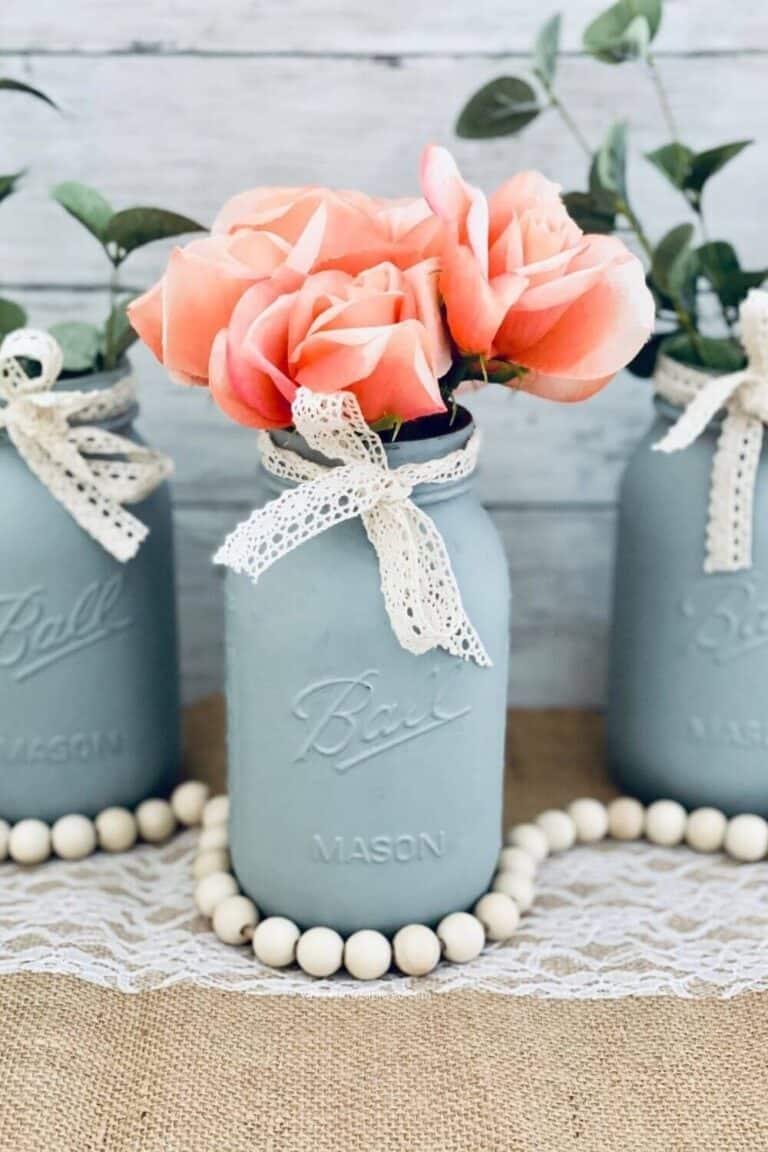 DIY Farmhouse Mason Jars for Decorating Your Home