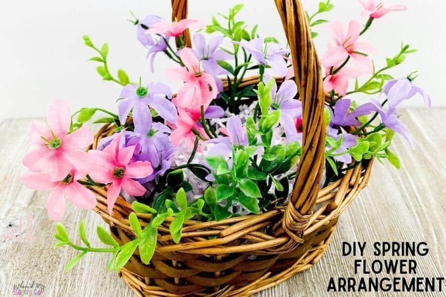 DIY Spring Flower Arrangement