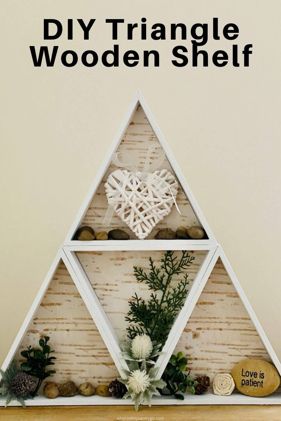 DIY Triangle Wooden Shelf