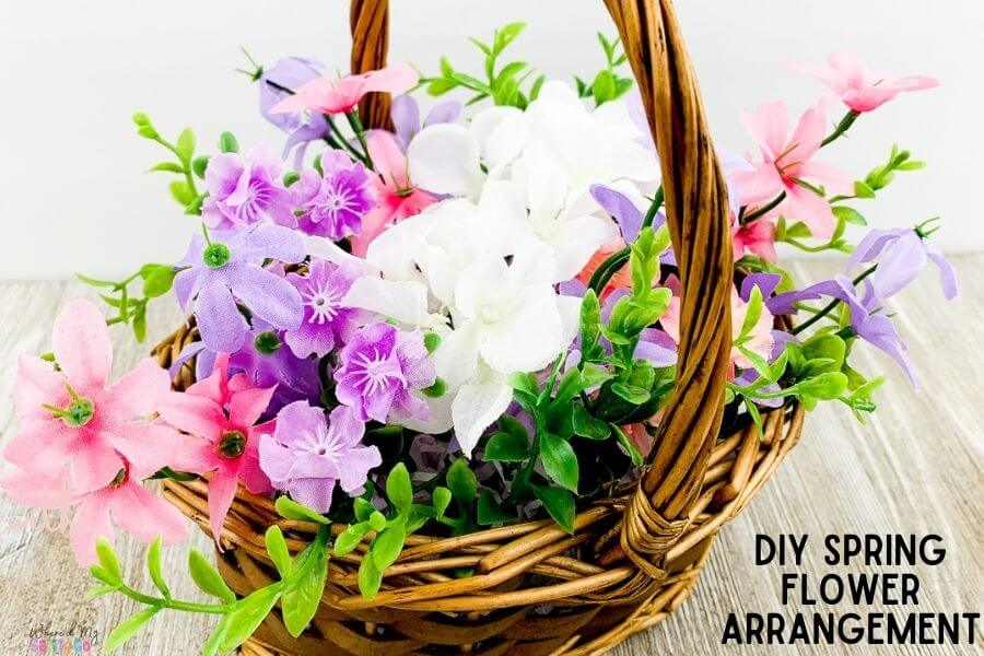 DIY Spring Flower Arrangement To Add Color To Your Home