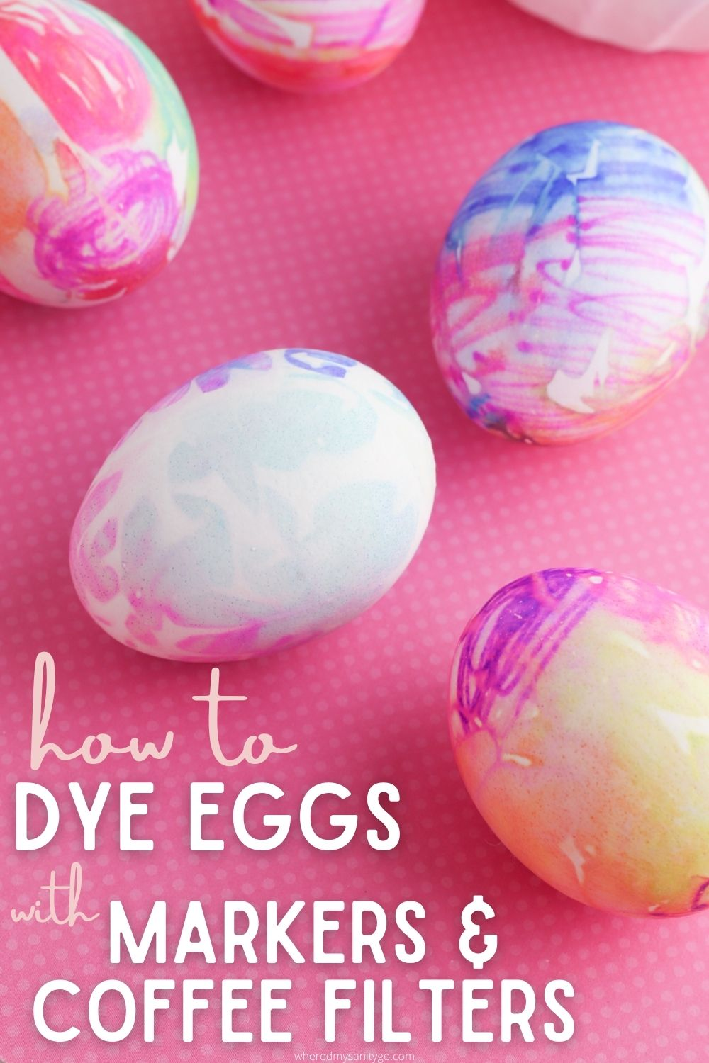 How To Dye Eggs with Coffee Filters and Markers