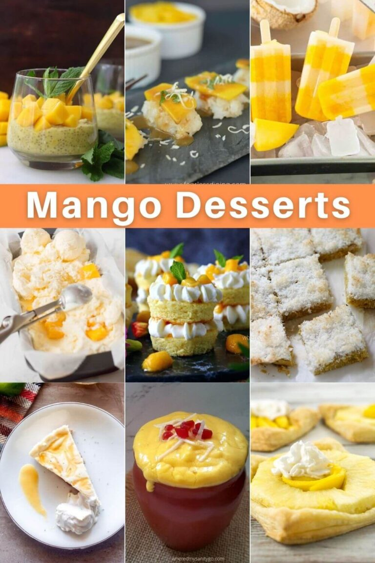 Easy Mango Desserts That Are Mouthwatering and Delicious