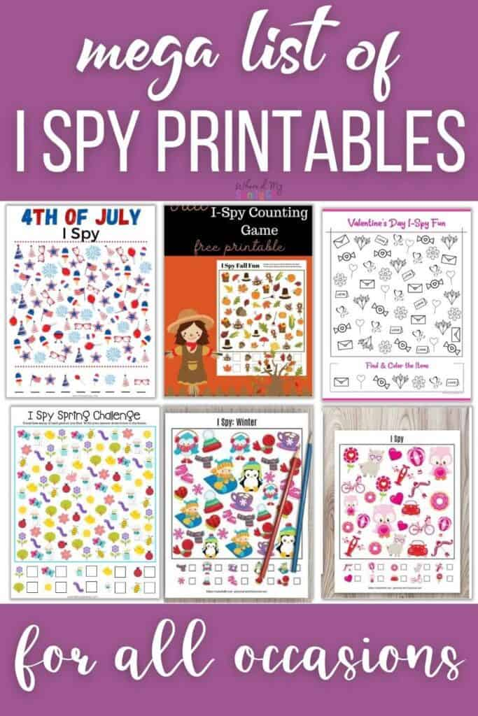 Free I Spy Printables for Learning and Fun