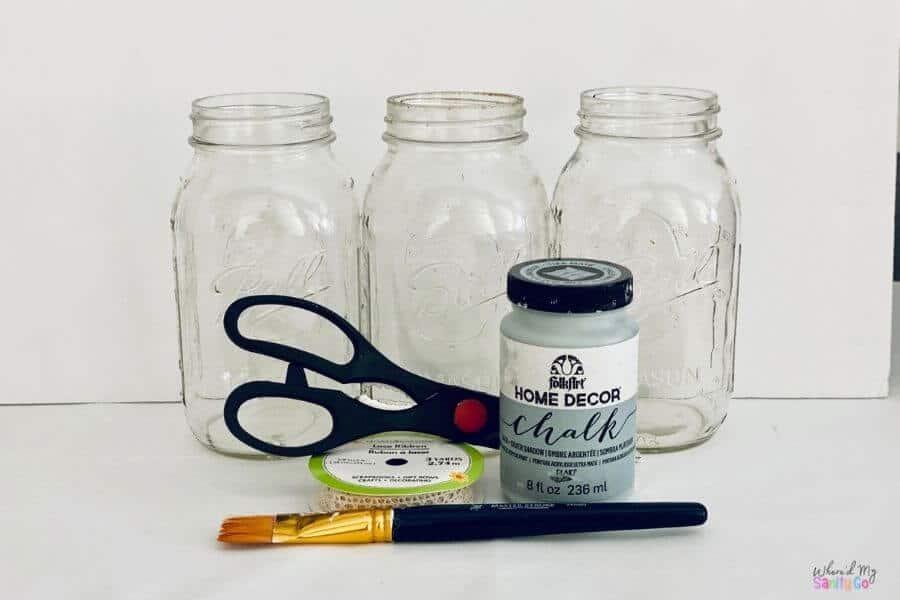 Gray Farmhouse Mason Jars Supplies