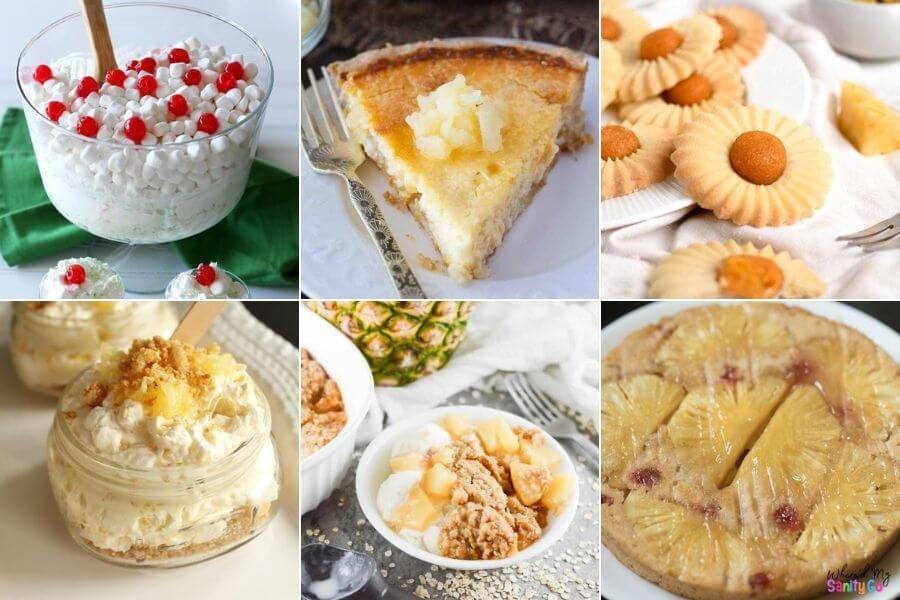 Sweet Pineapple Desserts