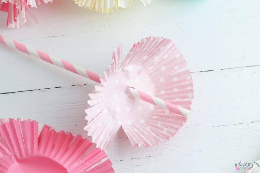 cupcake liner flowers step 3