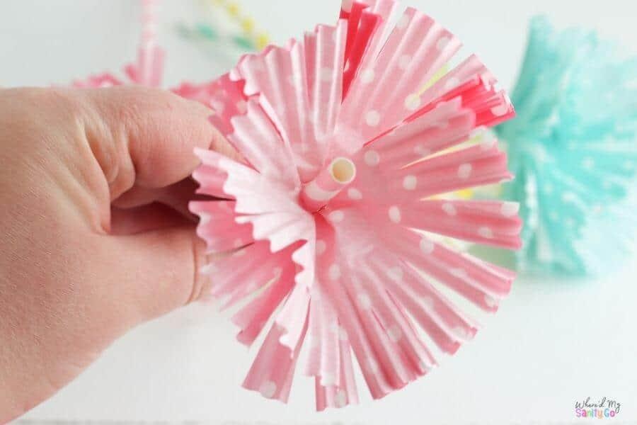 cupcake liner flowers step 4